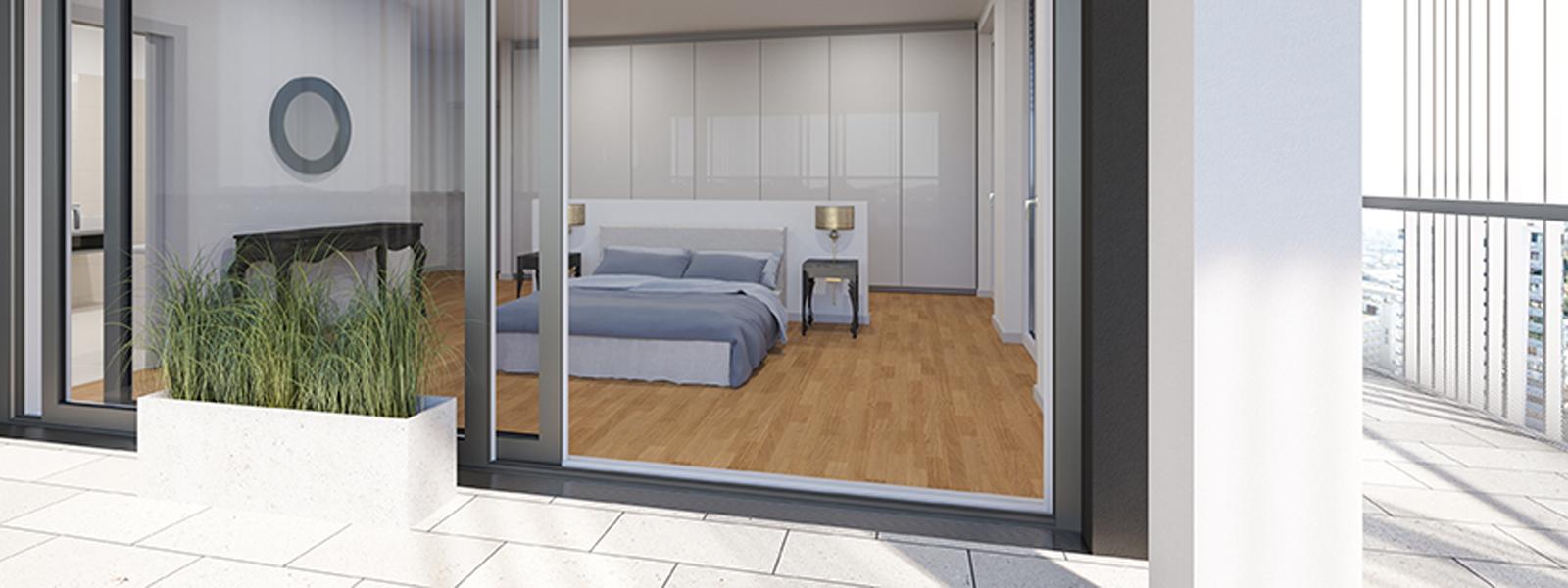 typ d 4 zimmer wohnung lux tower wohnen mit ausblick. Black Bedroom Furniture Sets. Home Design Ideas